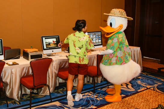 Donald checking out the photo bar.